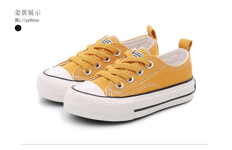 Babaya Giày Trẻ Em 2020 Mẫu Mới Mùa Xuân Baba Vịt Bảy Tuổi Trẻ Em Giày Vải Bố Cậu Bé Thông Dụng Học Sinh Giày Trắng thumbnail