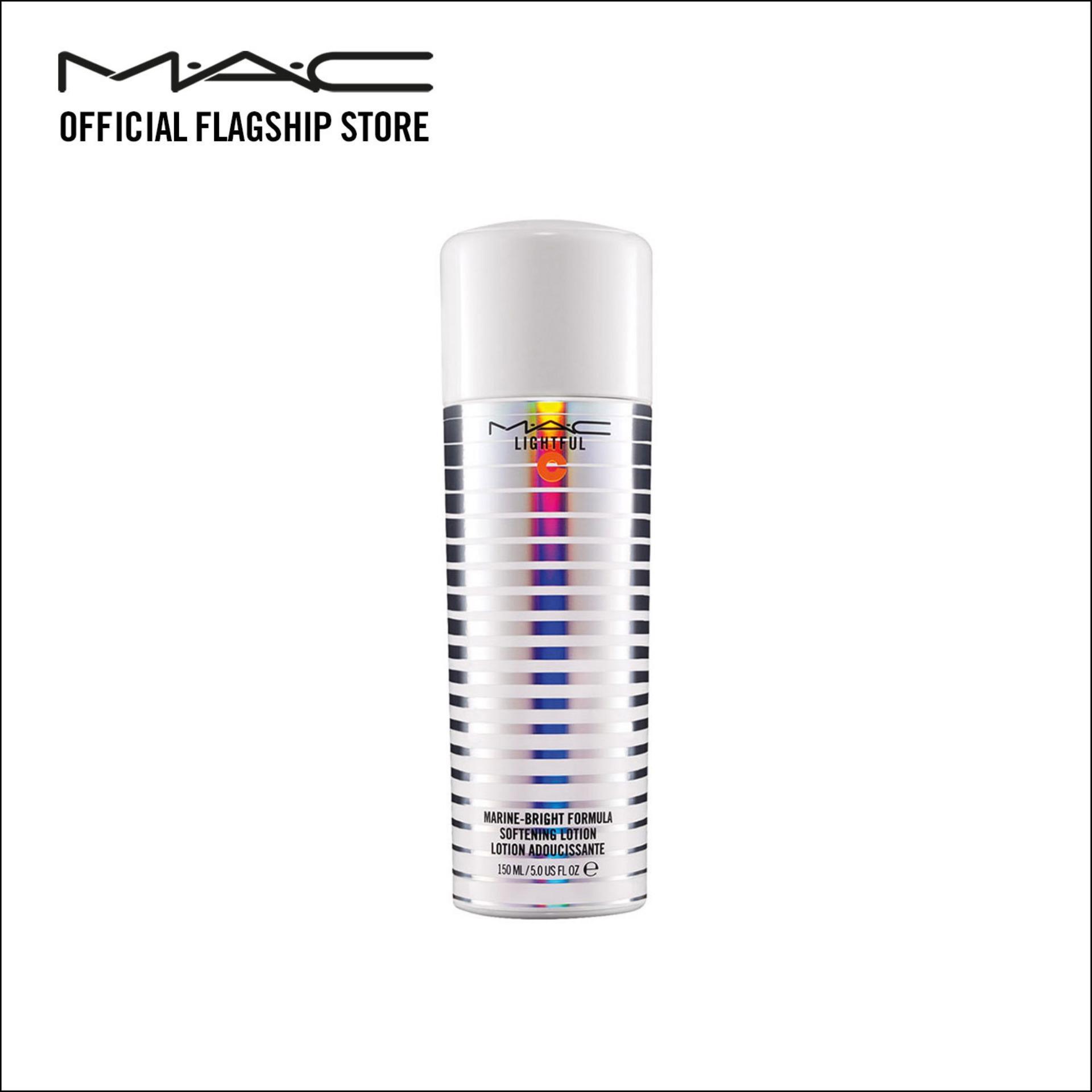 Nước hoa hồng dưỡng sáng da dạng xịt MAC Lightful C + Marine-Bright Formula Softening Lotion 150ml