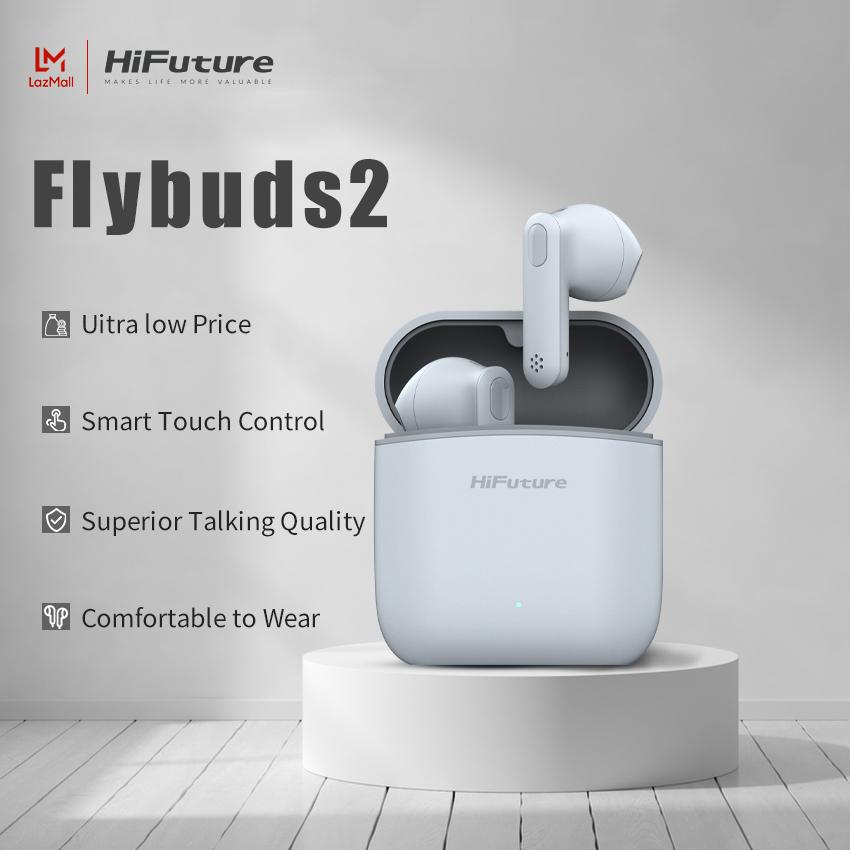 HiFuture FlyBuds2 Tai nghe không dây ban đầu Bluetooth 5.0 TWS Tai nghe chất lượng cao Tai nghe thể thao Âm nhạc trò chơi Tai nghe âm thanh nổi có mic cho tai nghe cuộc gọi hai tai với hộp sạc tai nghe bluetooth pin siêu trâu thumbnail