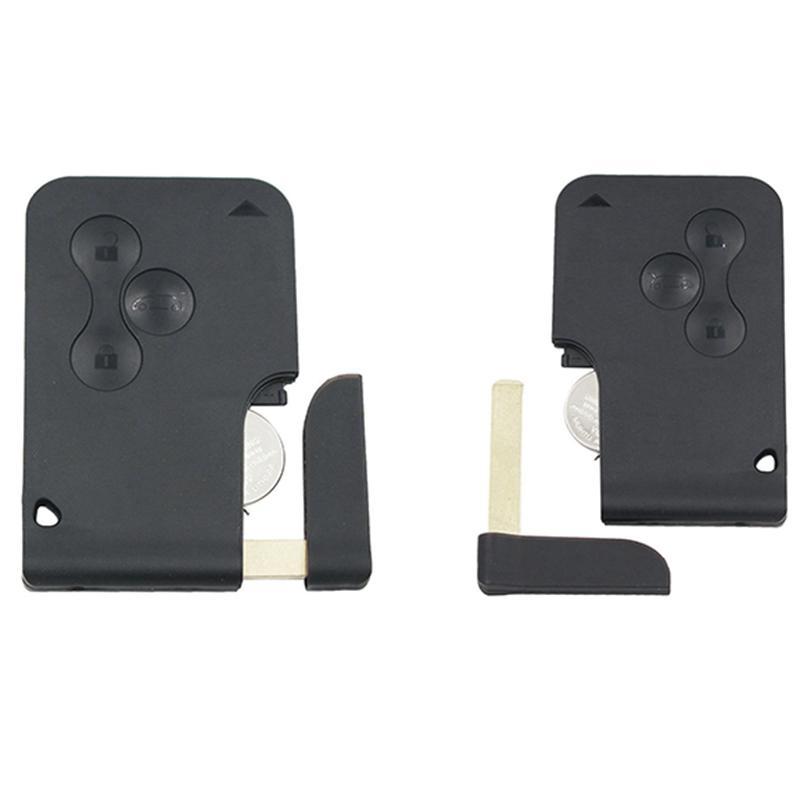2 for Renault Megane Smart Card 3B 433MHZ PCF7947 Semi-Intelligent Remote Key