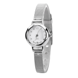 Bluelans® Women's Mesh Fine Alloy Band Rhinestone Dial Quartz Bracelet Wrist Watch Silver image on snachetto.com
