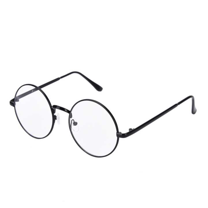 Fashion Metal Eyeglass Frames Round Glass Spectacles Retro Optical Eyewear Black - intl