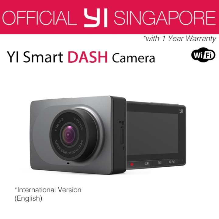 [Official XiaoYi SG]English Xiaoyi Yi Car Dash Driving Recorder Mi Camera 2.7 Inch 165 Degree 1080P HD ADAS CCTV Security (Grey)