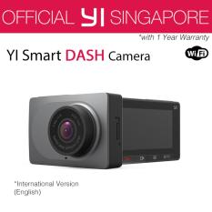 [Official XiaoYi SG]English Xiaoyi Yi Car Dash Driving Recorder Mi Camera 2.7 Inch 165 Degree 1080P HD ADAS CCTV Security (Grey)