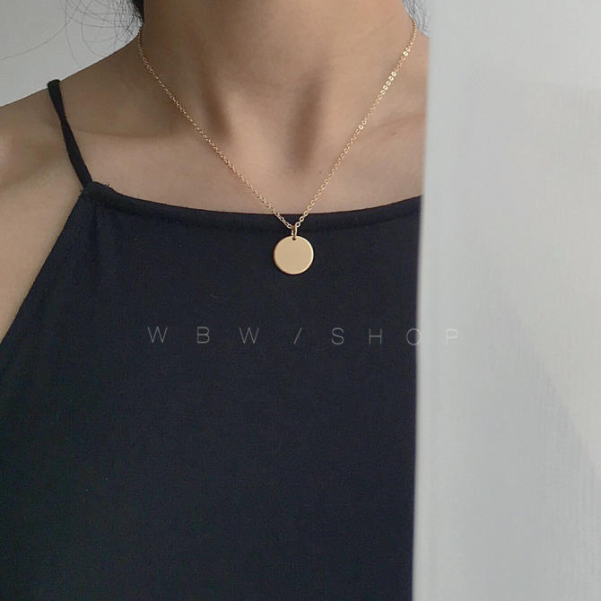 Cos wild wafer clavicle chain coin necklace