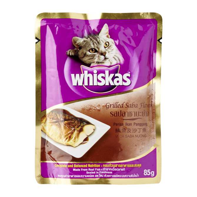Whiskas Grilled Saba Pouch Wet Food for Cat - 1 x 85 g