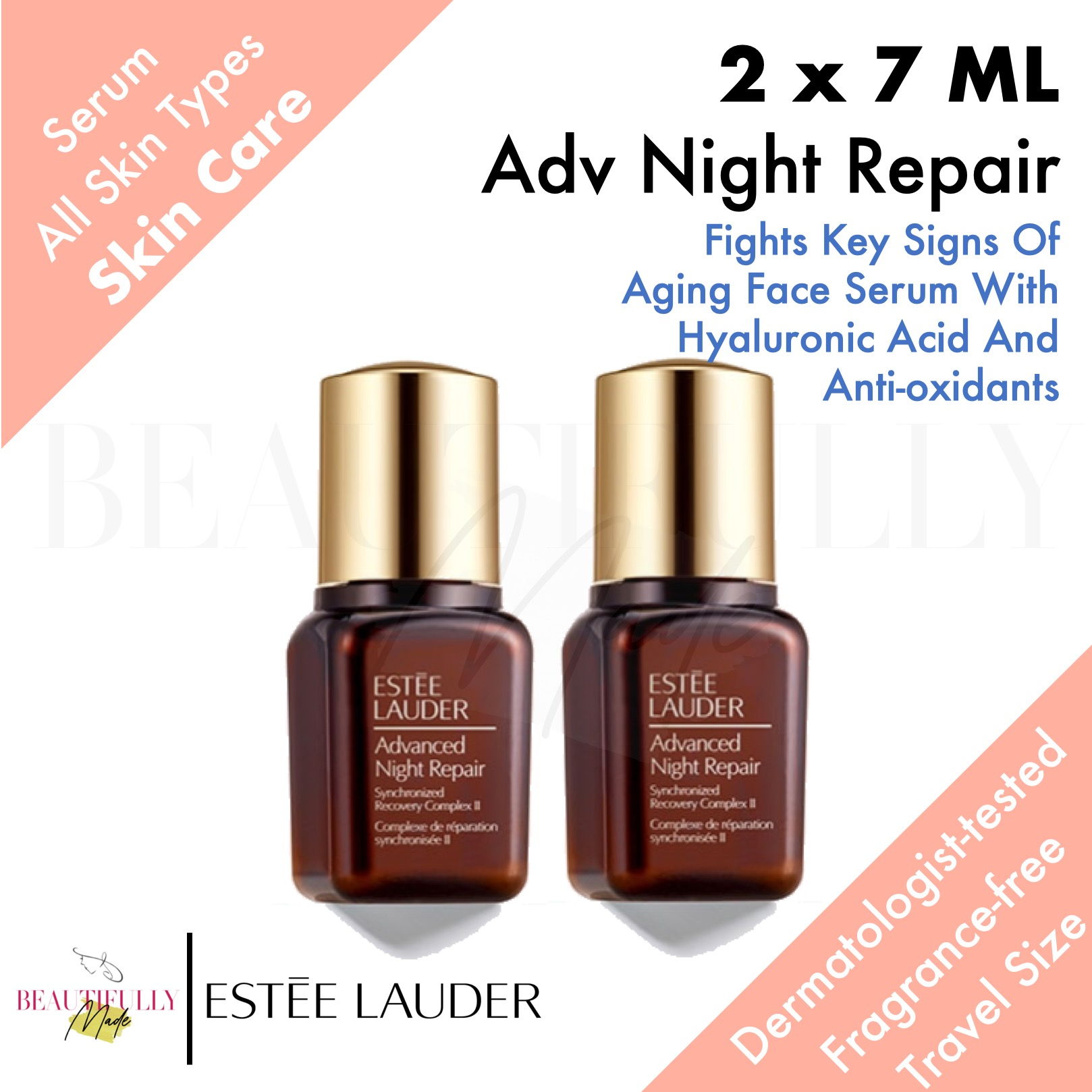 Bundle Of 2 Estee Lauder Advanced Night Repair Synchronized Recovery Complex Ii 2 X 7ml Multiple Signs Of Aging Visible Age Prevention Dryness Dehydration Lines And Wrinkles Dullness Loss Of Radiance Lazada Singapore