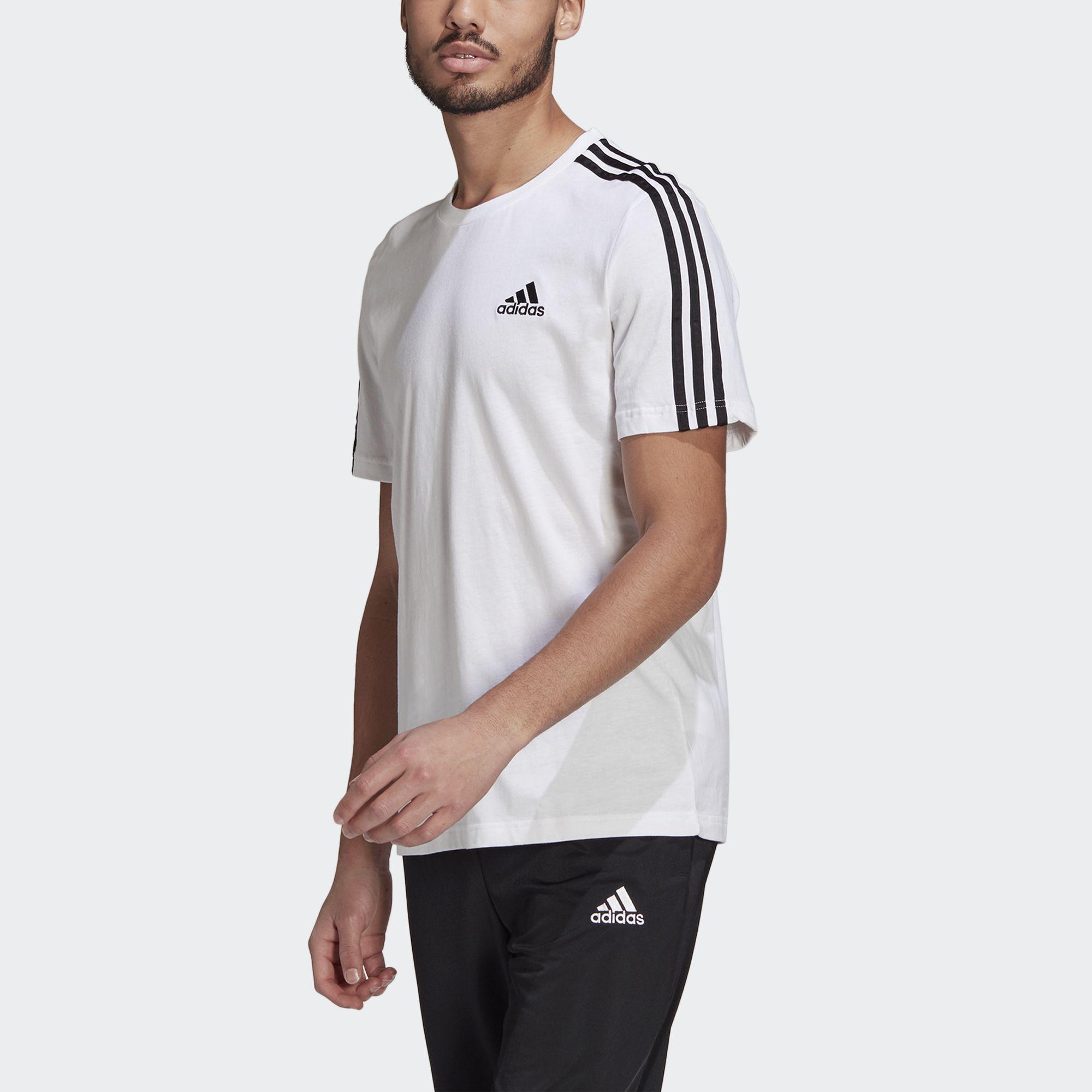 adidas NOT SPORTS SPECIFIC เสื้อยืด Essentials 3-Stripes ผู้ชาย สีขาว GL3733