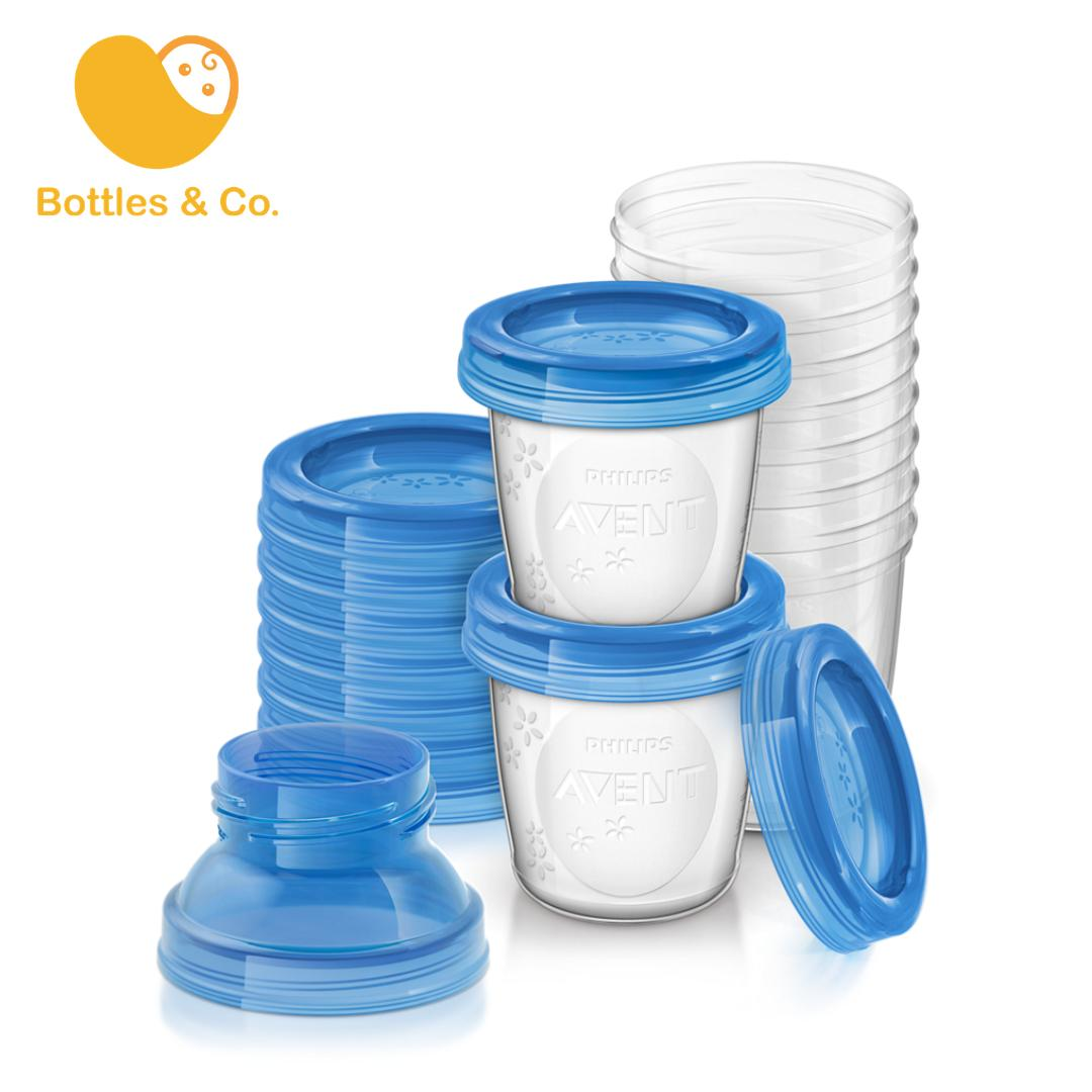 Philips AVENT 180ml Reusable Breast Milk/Food Storage Cups, 10 pcs