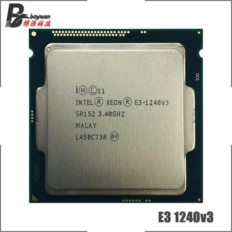 Intel Xeon E3-1240 v3 E3 1240v3 E3 1240 v3 3.4 GHz Quad-Core Eight-Thread CPU Processor 8M 80W LGA 1150 ch Store