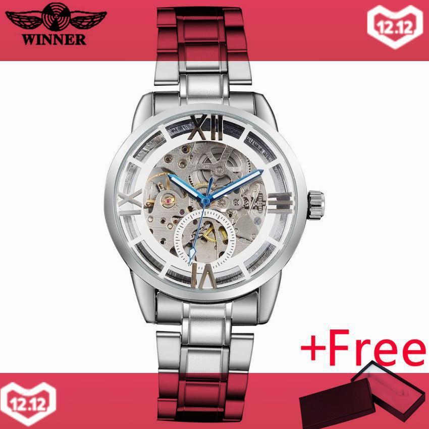 NGƯỜI CHIẾN THẮNG đầm thời trang nam cơ đồng hồ mặt đồng hồ thép không gỉ cao cấp tự động đồng hồ nữ đồng hồ relogio masculino-quốc tế