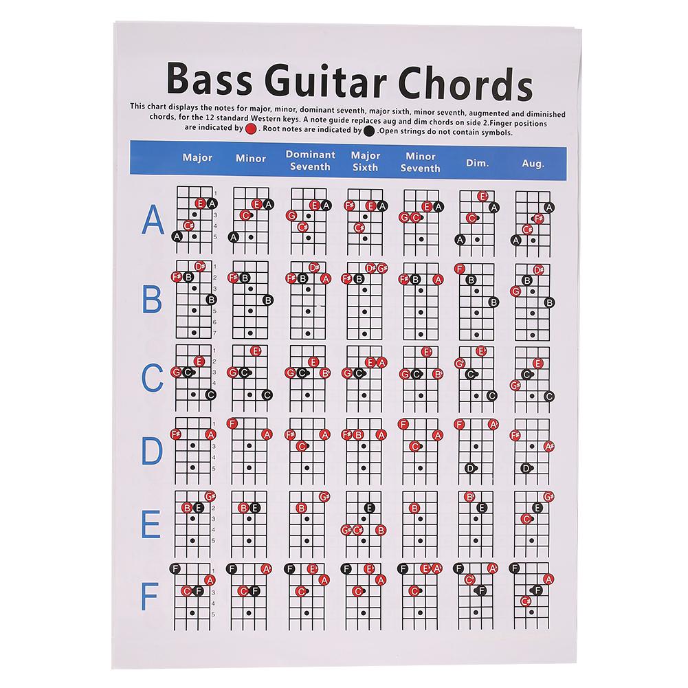 Yixun Bass Chord Gitar Praktek Grafik Skor Musik Siswa Belajar ...