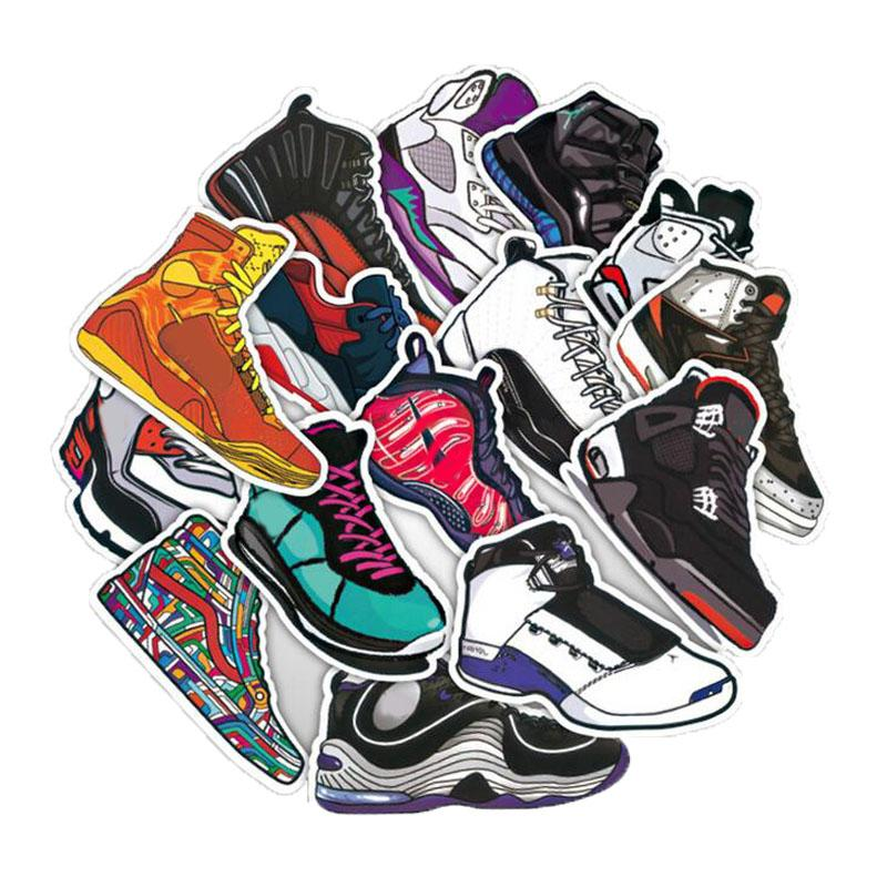 Lot 50 Basketball Sneakers Shoes Laptop Stickers Decals Sticker PVC Waterproof