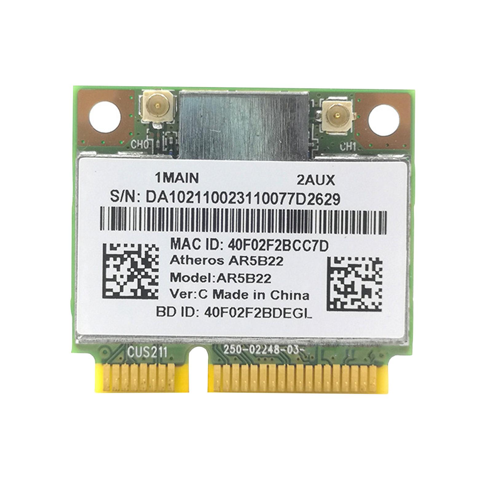 CozyySpace Card Mạng Không Dây Đáng Tin Cậy Thẻ WiFi Không Dây Băng Tần Kép 300Mbps 802.11A B G N 802.11A B G N, Cho Máy Tính Để Bàn thumbnail