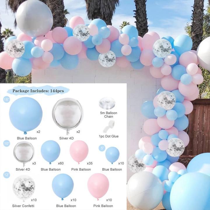 Macaron Blue Pink Balloon Garland Arch Birthday Wedding Party Baby Shower Decor