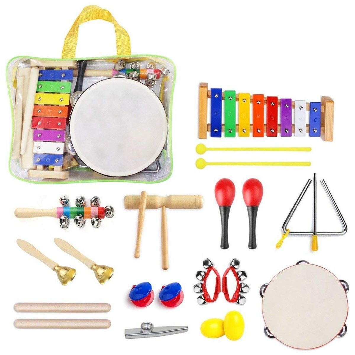 Preschool Toddler Kids Musical Instruments Percussion Toy Rhythm Band Set