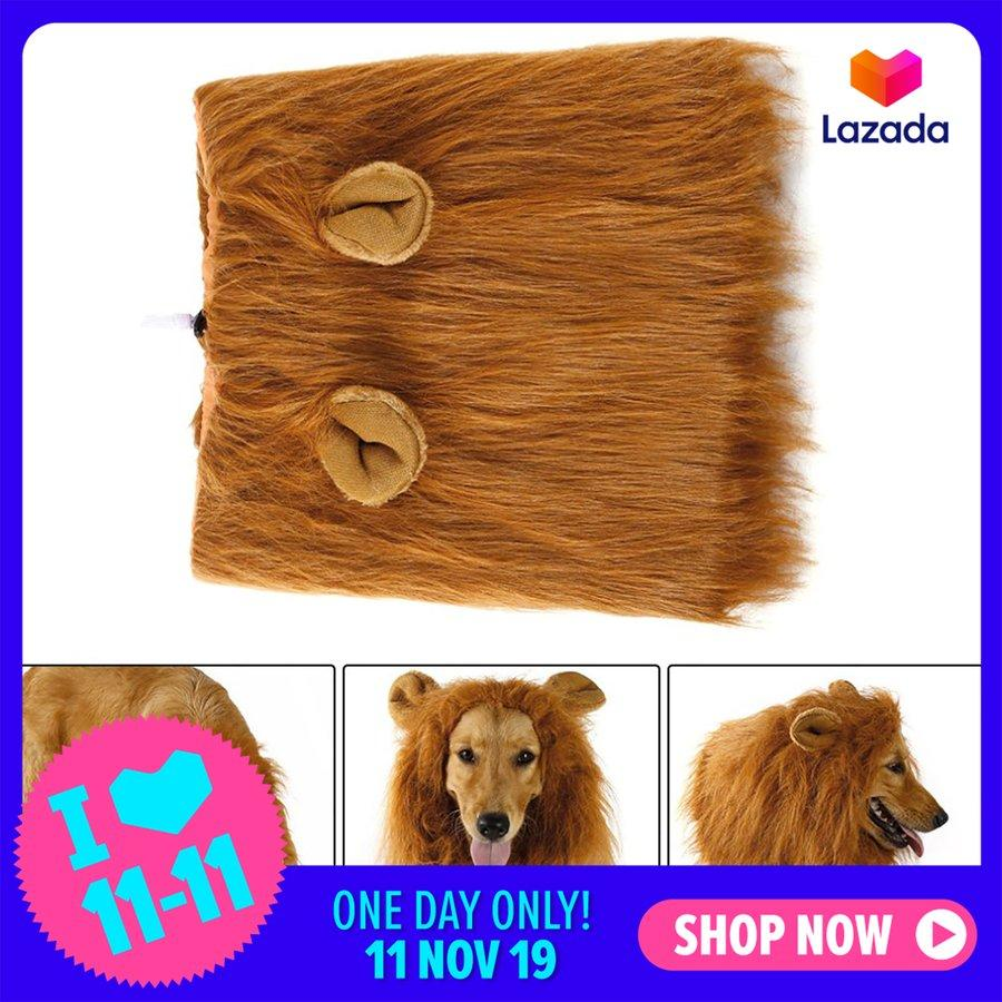 ERA Pet Costume Dog Lion Wigs Mane Hair Scarf Clothes For Party Halloween Festival