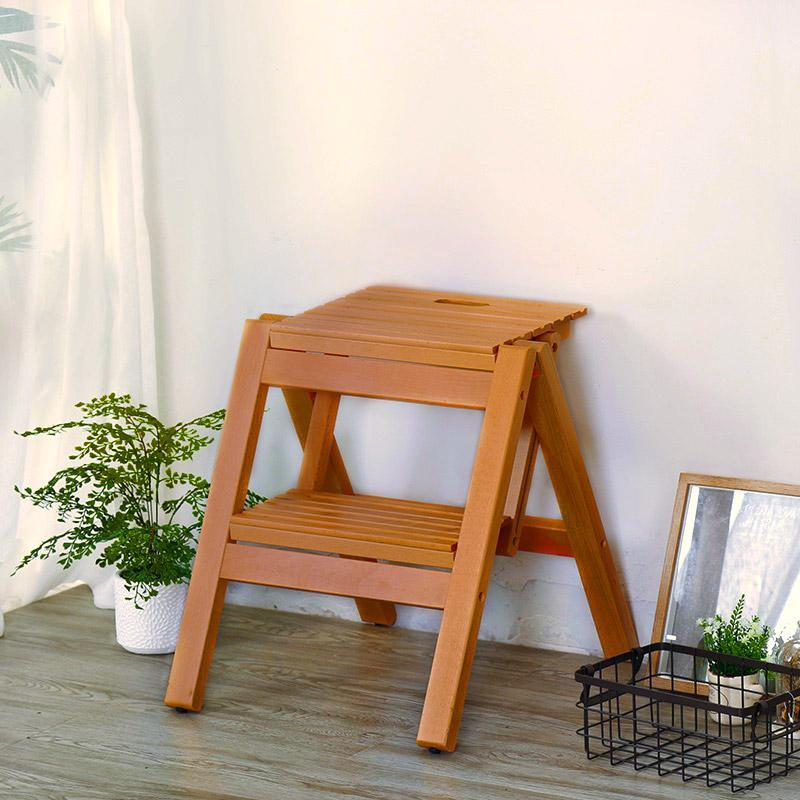 Stair Stool Ladder Chair Folding Wooden