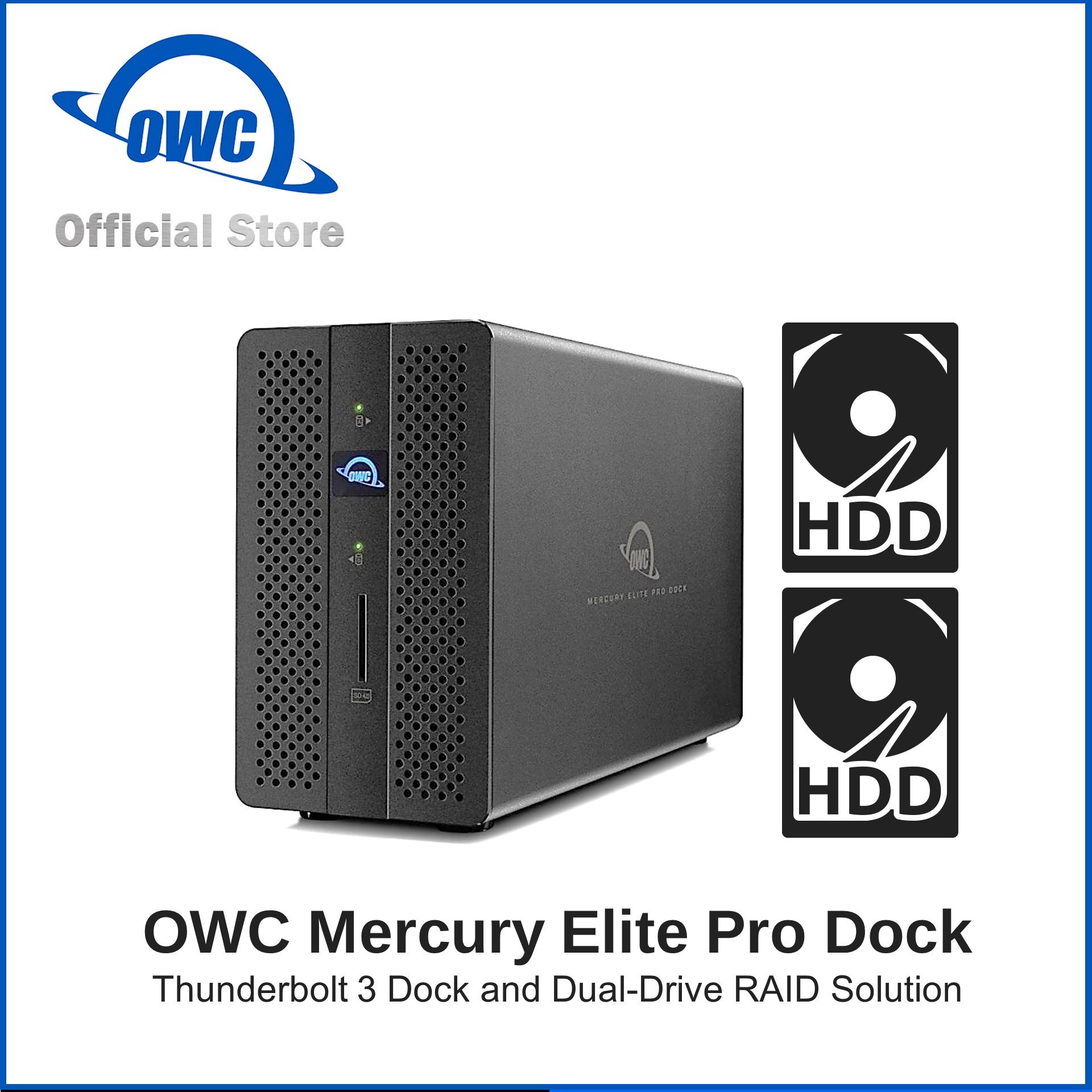 OWC Mercury Elite Pro Thunderbolt 3 Dock and Dual-Drive RAID 0GB Enclosure