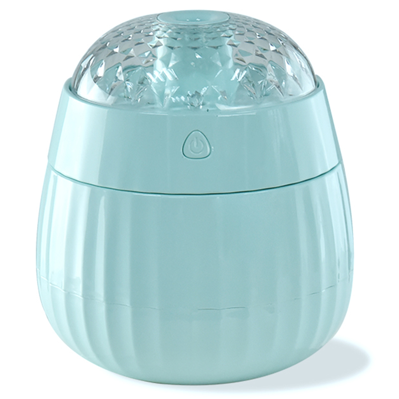 Creative Gift Air Humidifier Romantic Projection Essential Oil Aroma Diffuser With 7 Changing Led Light For Office Car Home(Blue)