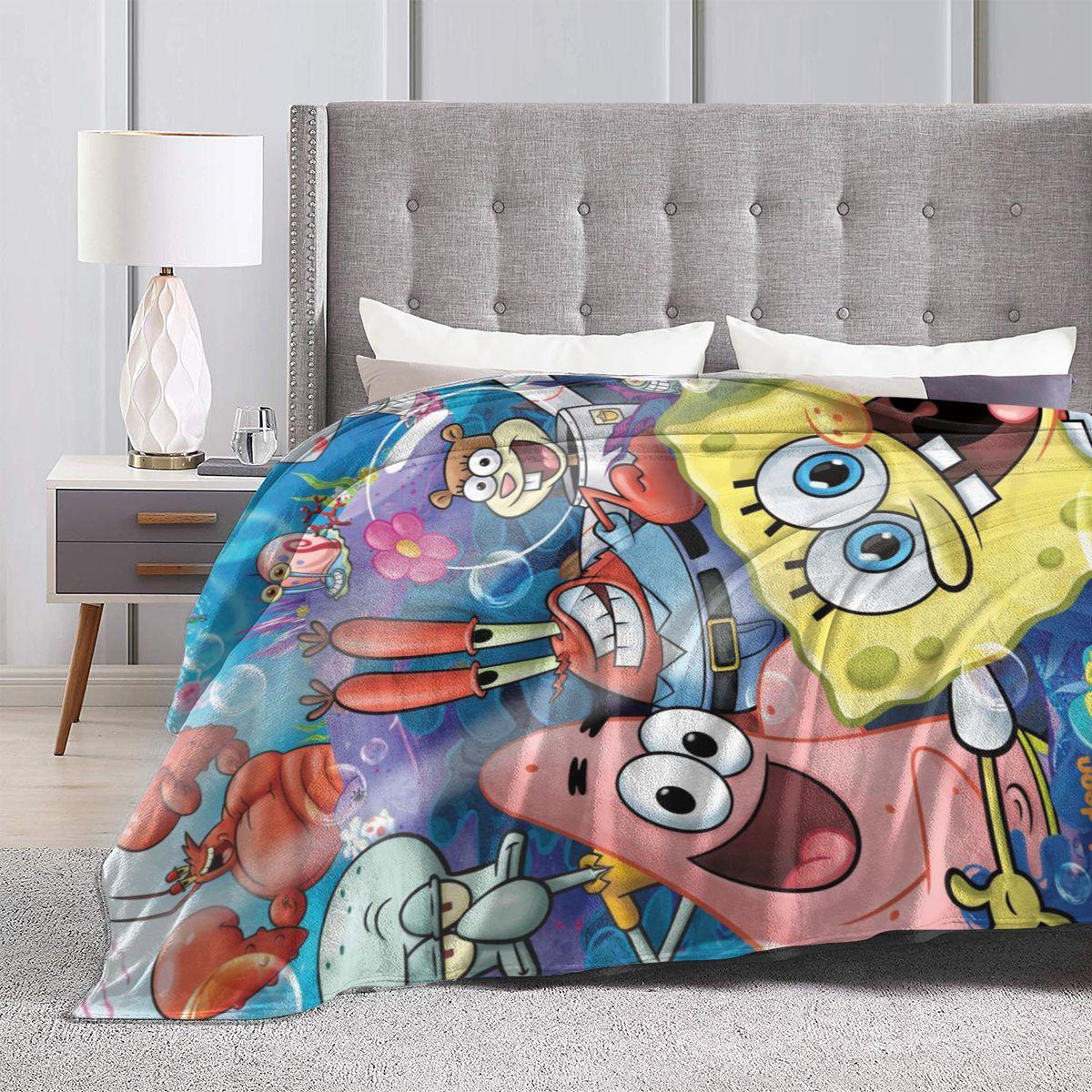 Spongebob Squarepants Super Refined Printed Rug Sofa Blanket Bed Blanket Air Conditioning Blanket Lazada Singapore