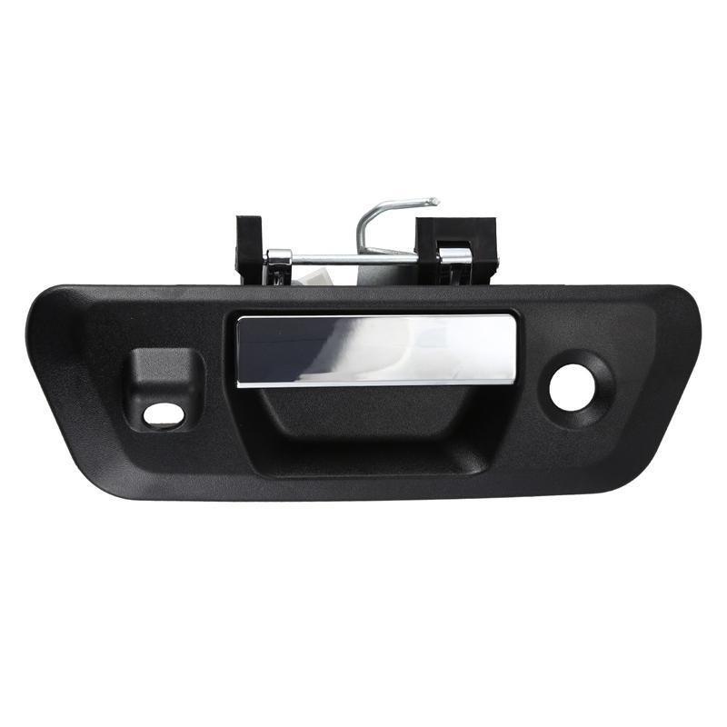 Car Rear Tailgate Handle Durable Rear Door Handle with Camera-Key Hole, for Nissan Navara NP300 2014 2015 2016 2017 2018+ 90606-4JG0C