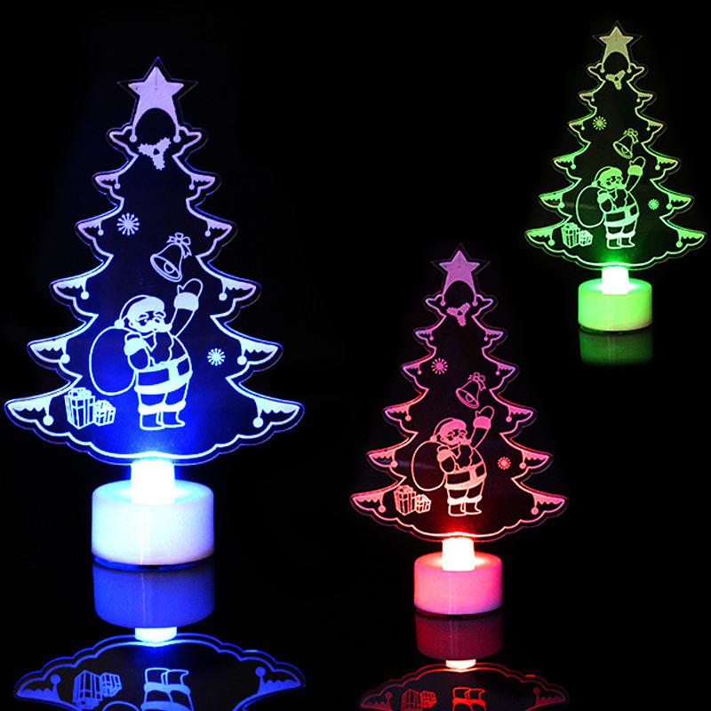Hebeauty-Đèn Ngủ LED 3D Có Thể Đổi Màu Phong Cách Giáng Sinh Tiết Kiệm Điện