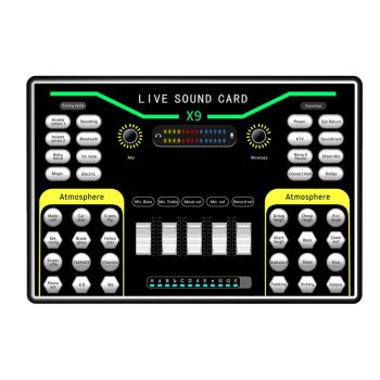 X9 Vibrato Fast Hand K Song Recording Device Dual Mobile Phone Live Broadcast Anchor USB 2-Channel Sound Card