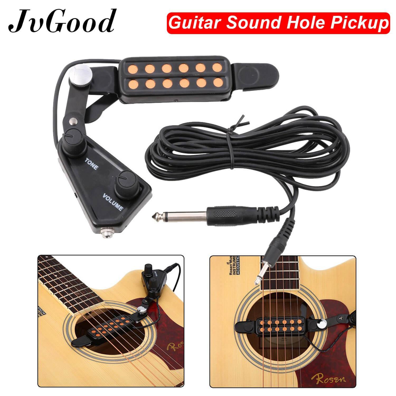 JvGoodBộ chuyển đổi từ tính 12 lỗ lấy âm thanh với bộ điều khiển âm lượng giai điệu cáp âm thanh Guitar acoustic – INTL