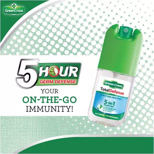 Green Cross 5 In 1 Total Defense Antibacterial Hand Spray