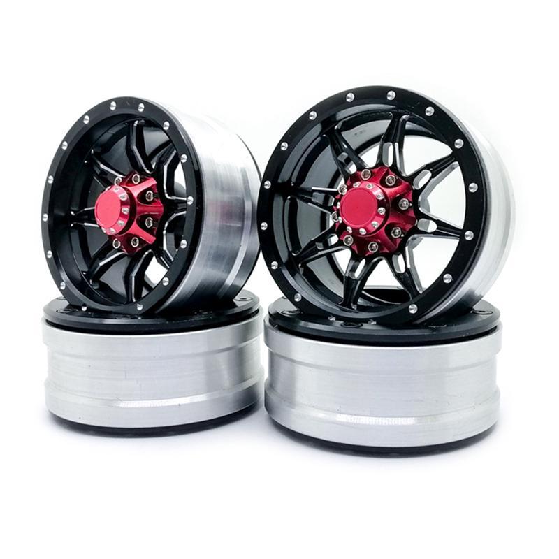 4PCS Metal 1.9/'/' RC Beadlock Wheels Rims for 1//10 RC SCX10 D90 TRX4 TF2 90046