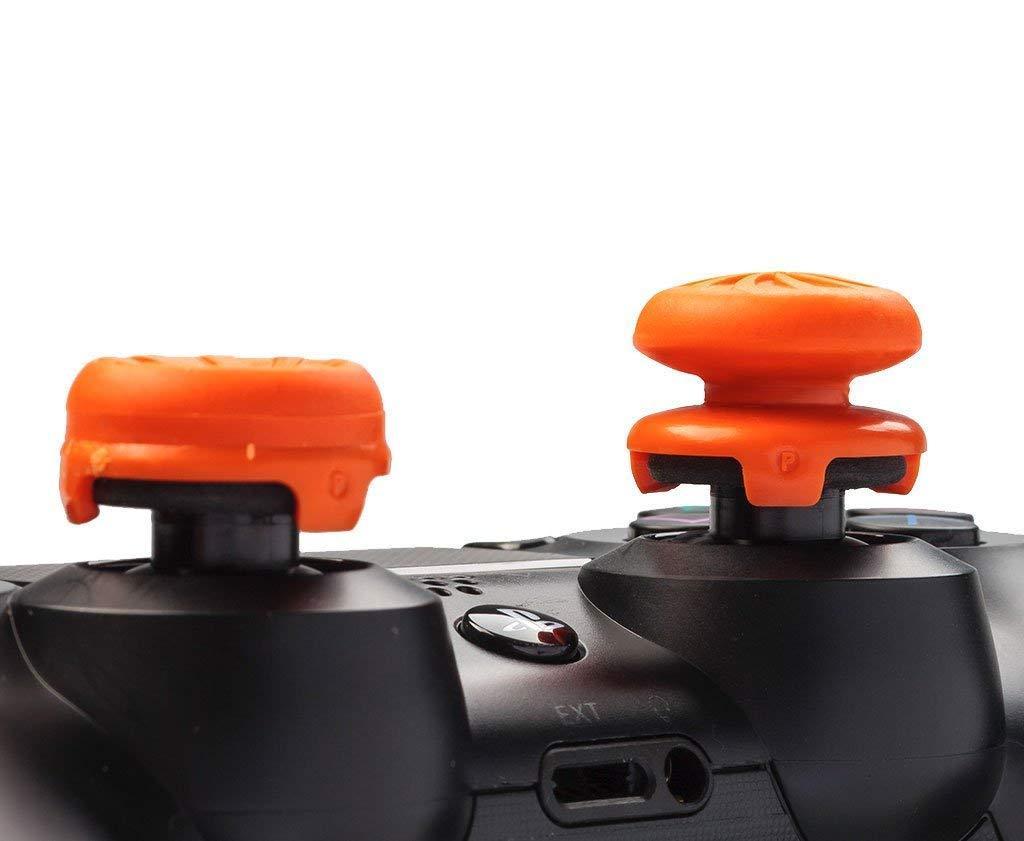 KontrolFreek FPS Freek Vortex for PlayStation 4 PS4 Orange 1 High-Rise Convex Controller Performance Thumbsticks 1 Mid-Rise Concave