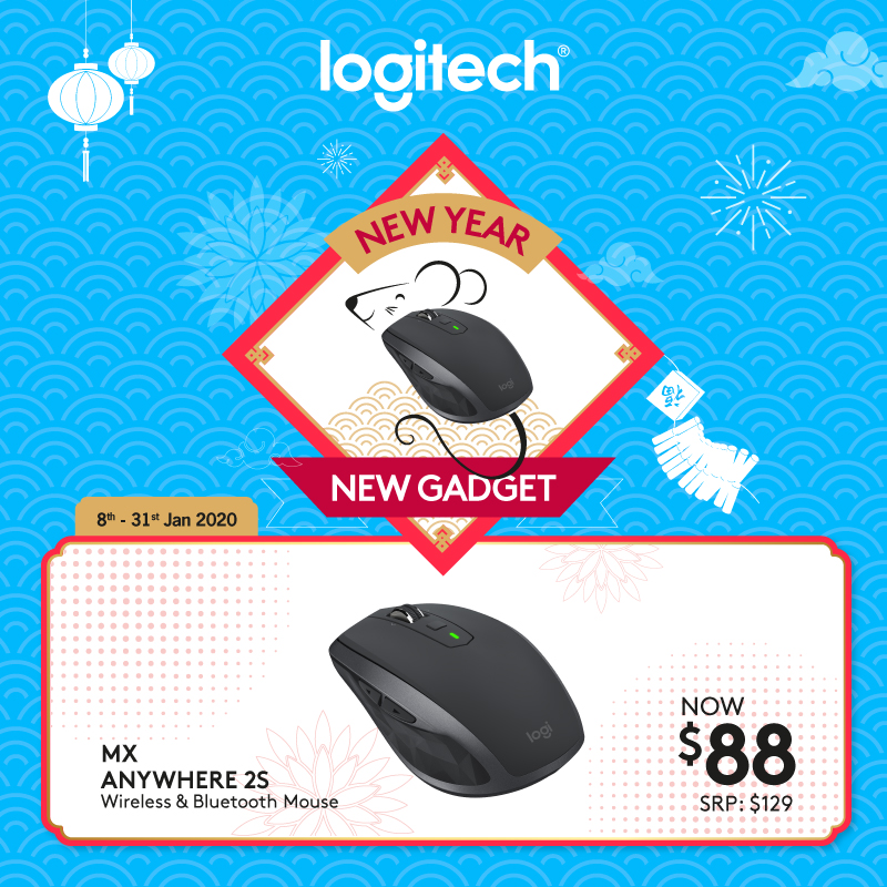 Logitech MX Anywhere 2S Graphite Wireless Multi Device Mouse With Logitech Flow, Gesture Control and Wireless File Transfer #LogitechCnPMegaSale