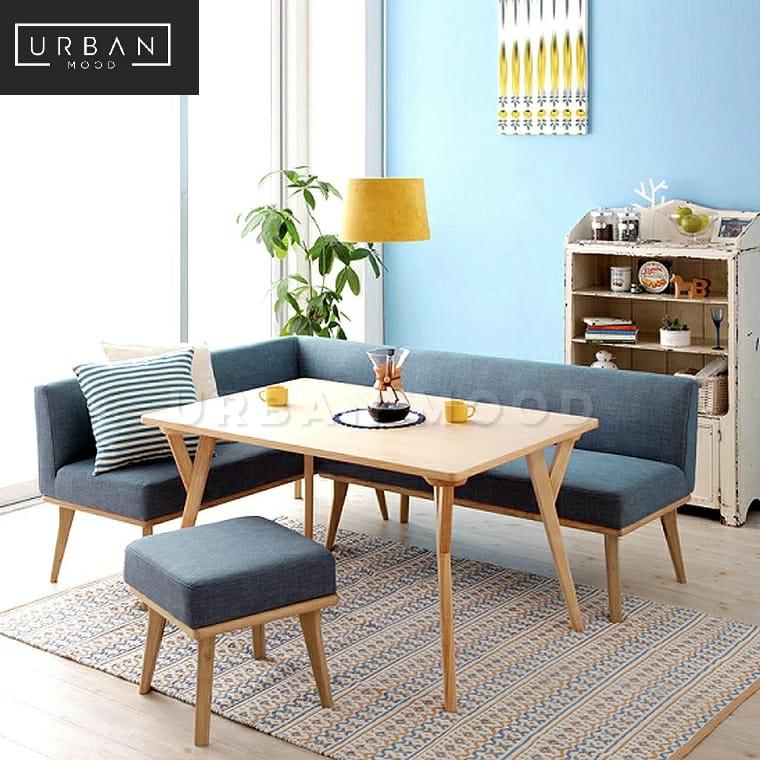 Pre Order Linde Modern Fabric Dining Bench Deliver In 4 8 Weeks Lazada Singapore