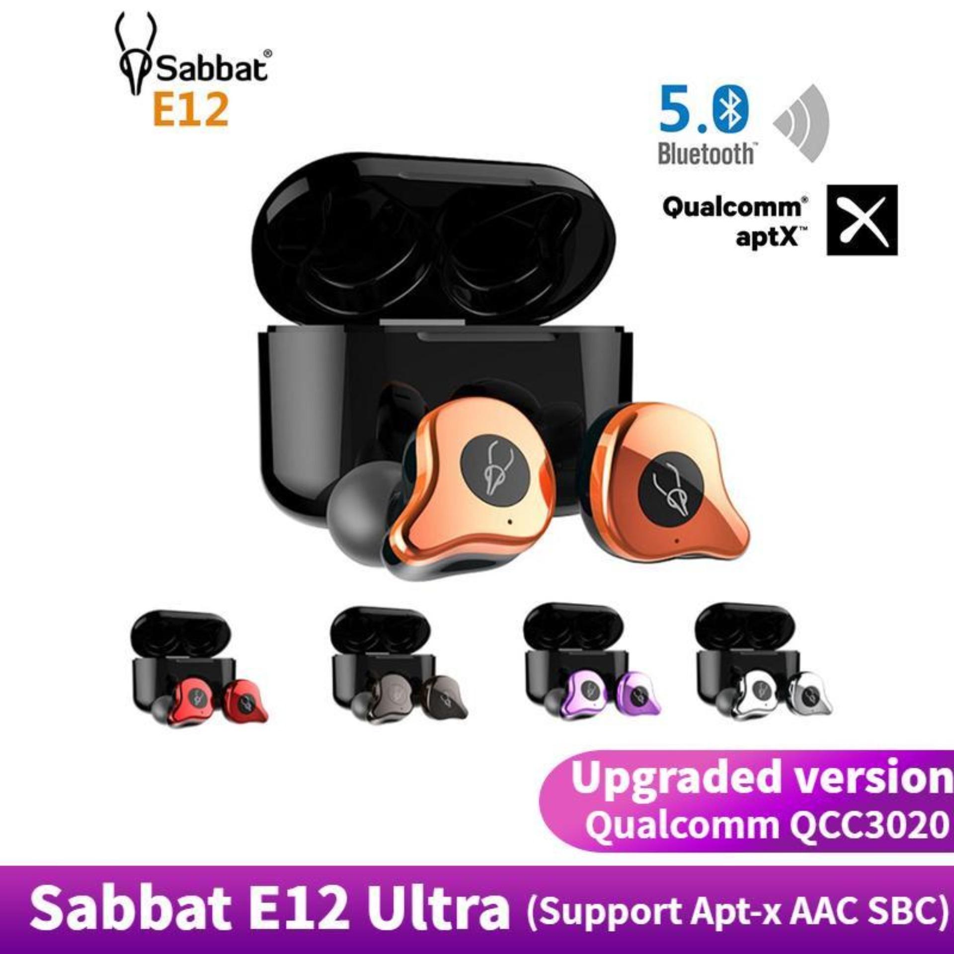 Original Sabbat E12 Ultra Qualcomm QCC3020 TWS Bluetooth 5.0 True Wireless earbuds Wireless Headset Wireless HiFi Monitor Noise Isolation Noise-canceling In Ear Running Sport Earphone Wireless Charging Box