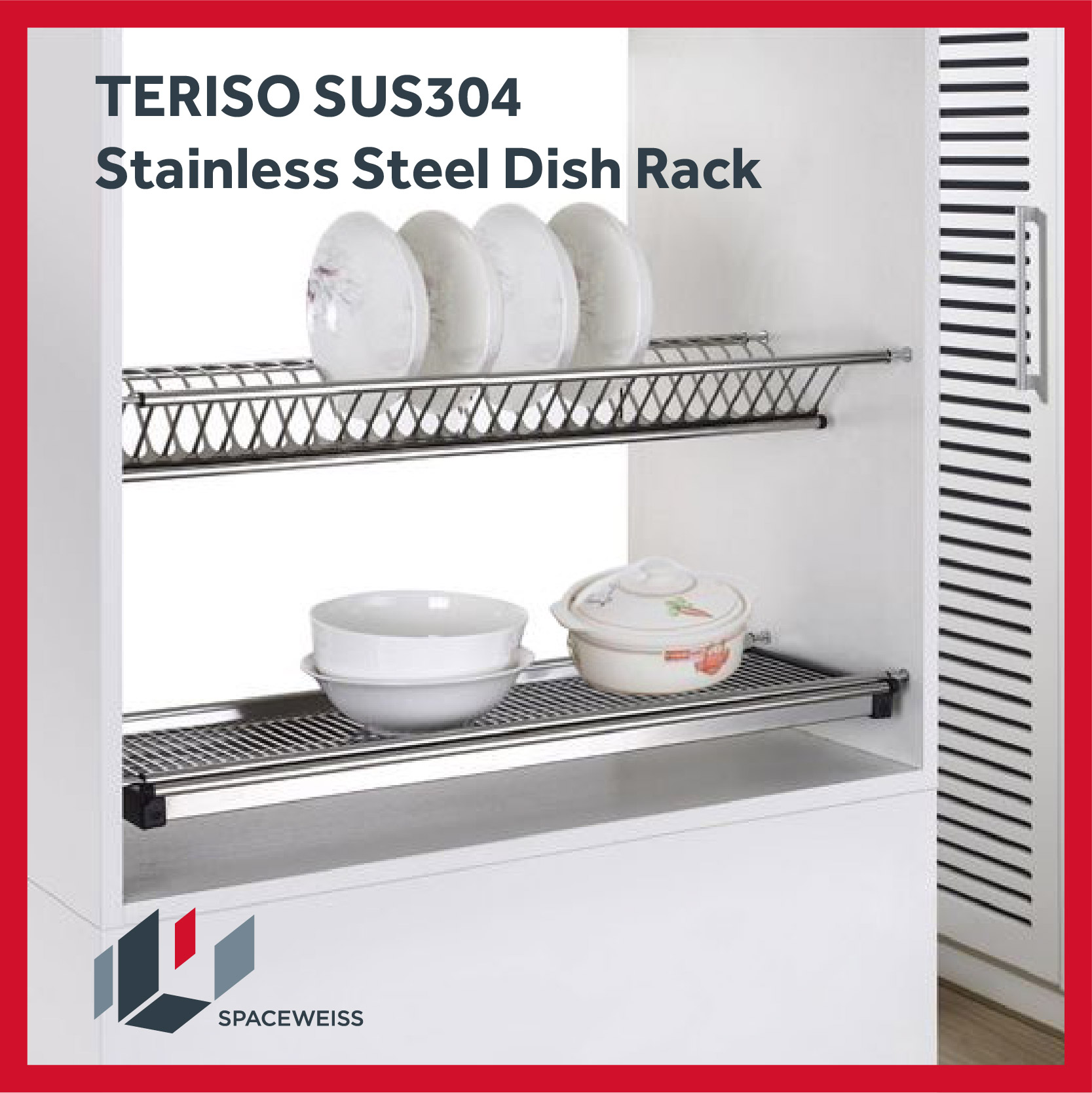 Teriso Sus304 Stainless Steel Dish Rack Spaceweiss Lazada Singapore