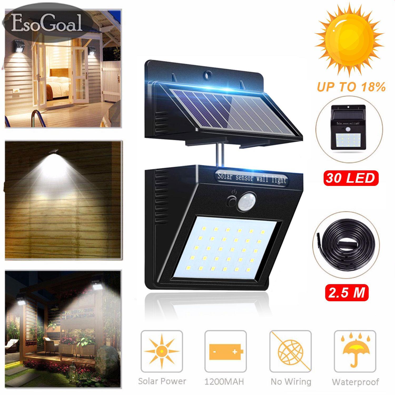Esogoal Outdoor Lighting Sensor Solar