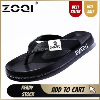 ZOQI รองเท้าแตะผู้ชายรองเท้าแตะชายหาดรองเท้าแตะสำหรับผู้ชายและผู้หญิงรองเท้าฤดูร้อนรองเท้าแตะผู้ชายรองเท้าแตะ (สีดำ) - นานาชาติ