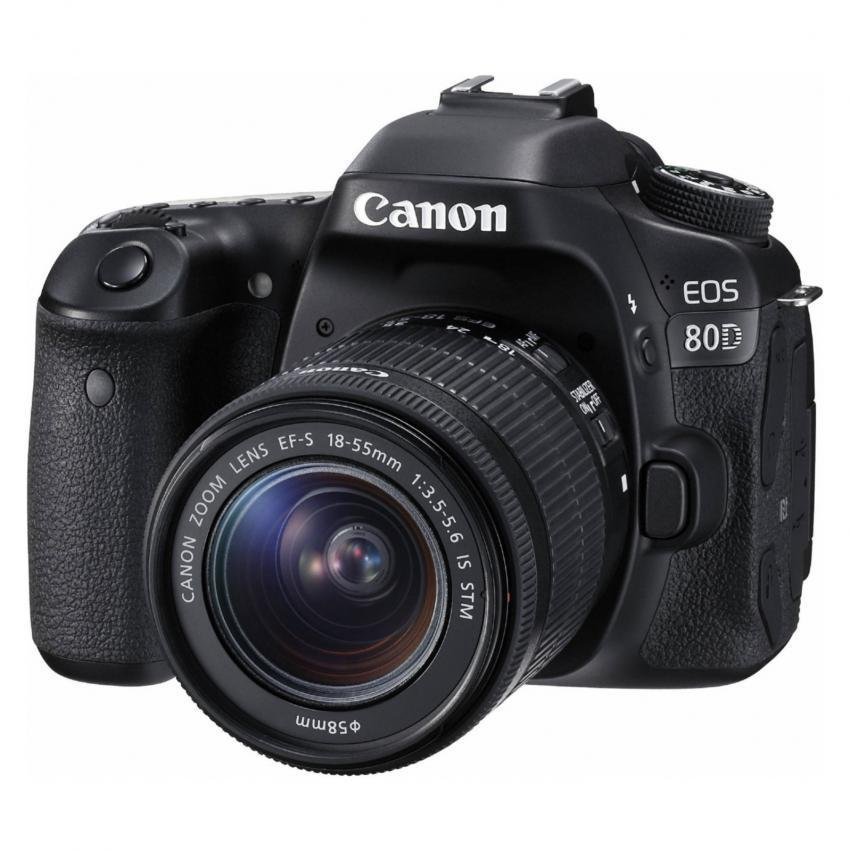 Canon EOS 80D DSLR Camera Body with EF-S 18-55mm IS STM Lens