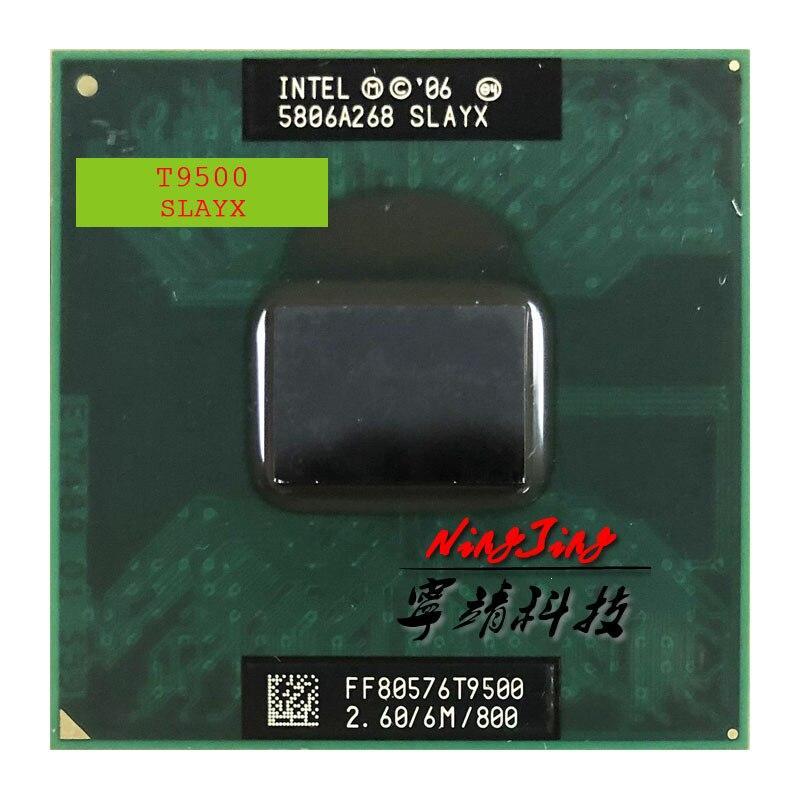 Intel Core 2 Duo T9500 SLAQH SLAYX 2.6 GHz Dual-Core Dual-Thread CPU Processor 6M 35W Socket P AZZX Store