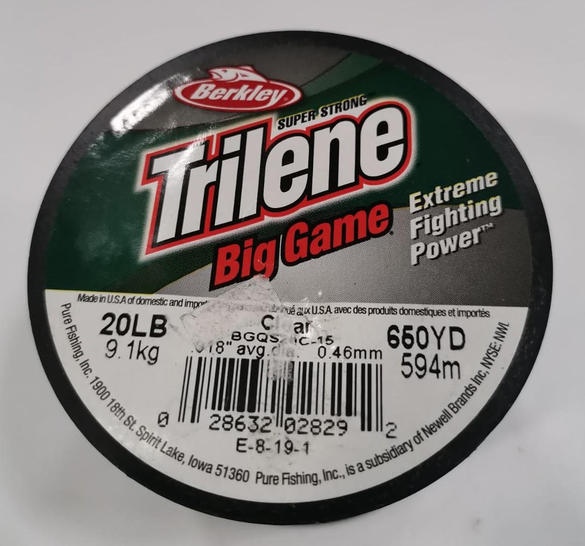 60LB CLEAR BERKLEY BIG GAME FLUOROCARBON 20LB