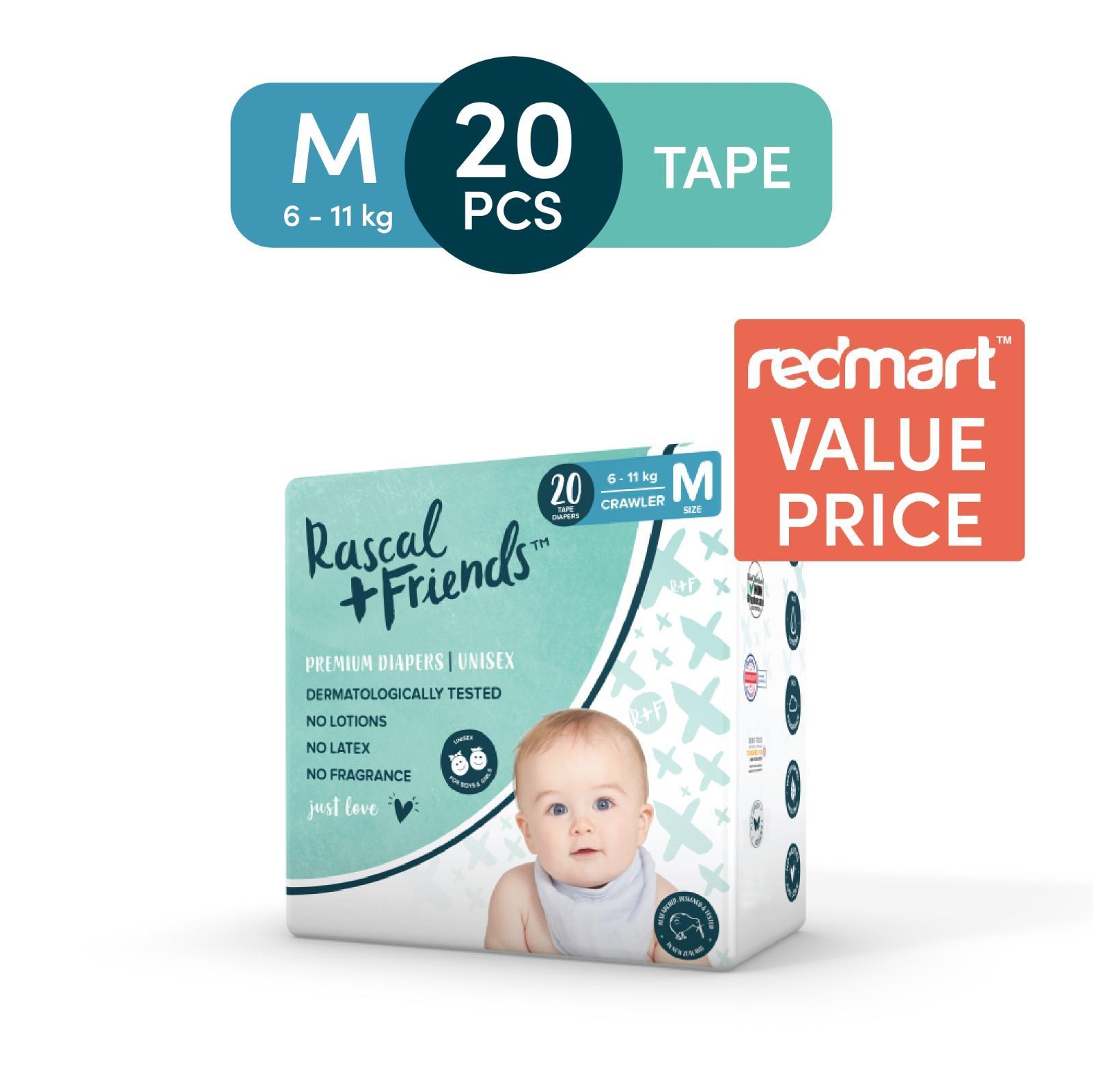 Rascal + Friends Tape Diapers M - Sample [Max 1 per customer]