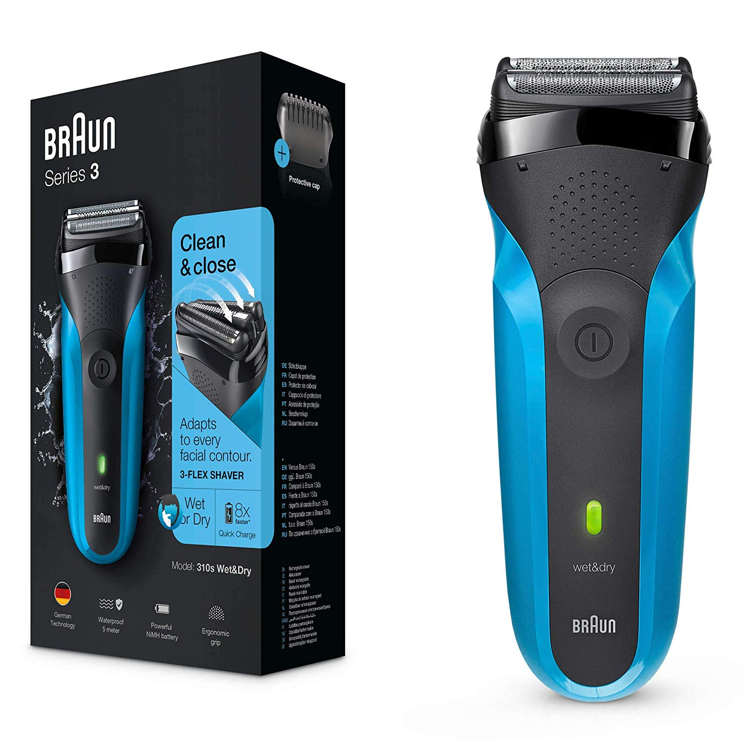 BRAUN - Series 3 310s Rechargeable Wet & Dry Electric Shaver ...