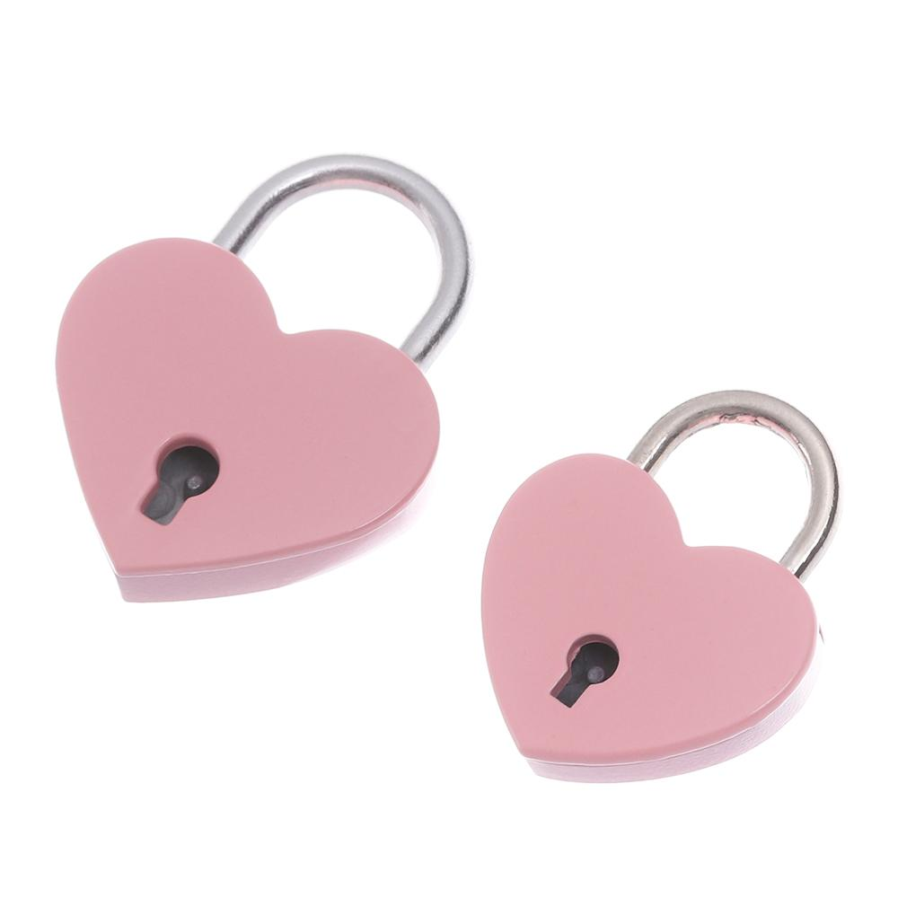 Diary Protector Colourful Padlock Antique Style Security Tool Heart Shaped Lock