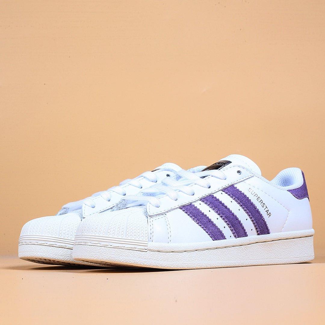maldición antena Araña  Adidas Superstar 2020 New Style Taro Purple Shell Head Classic Small White  Board Shoes Women's Shoes | Lazada Singapore