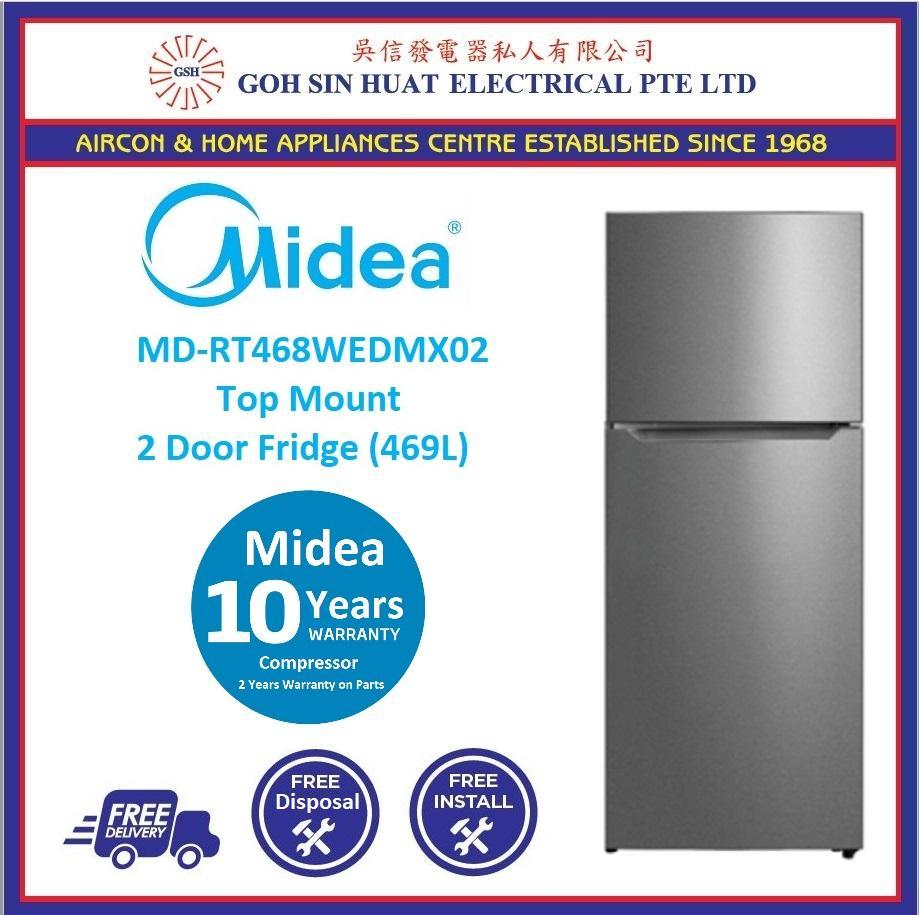New Model Midea Md Rt468wedmx02 Top Mount 2 Door Fridge Refrigerator 469l Lazada Singapore
