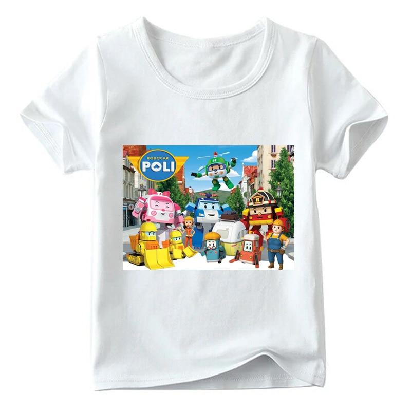 d9acfb6907a3 Product details of Children Robocar Poli Cartoon Funny T shirt Baby Boys/ Girls Cute Short Sleeve Summer Tops Kids Clothes,HKP2177