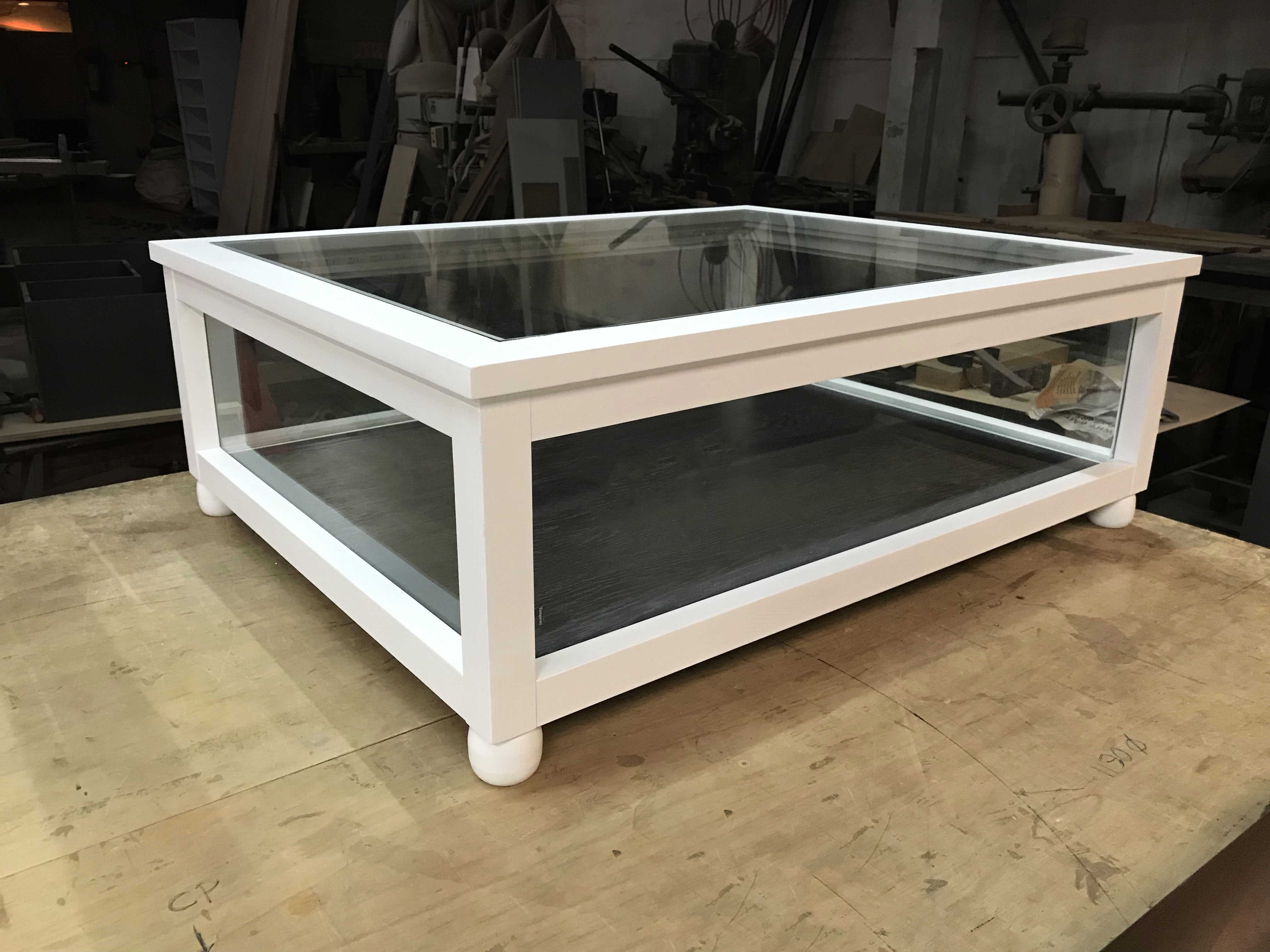 Solid Wood Display Table Coffee Table For Collectibles Amp Models Like Star Wars Millenium Falcon With Tempered Glass And Led Bar Lights Customizable Size And Colour Made In Singapore Handmade [ 3024 x 4032 Pixel ]