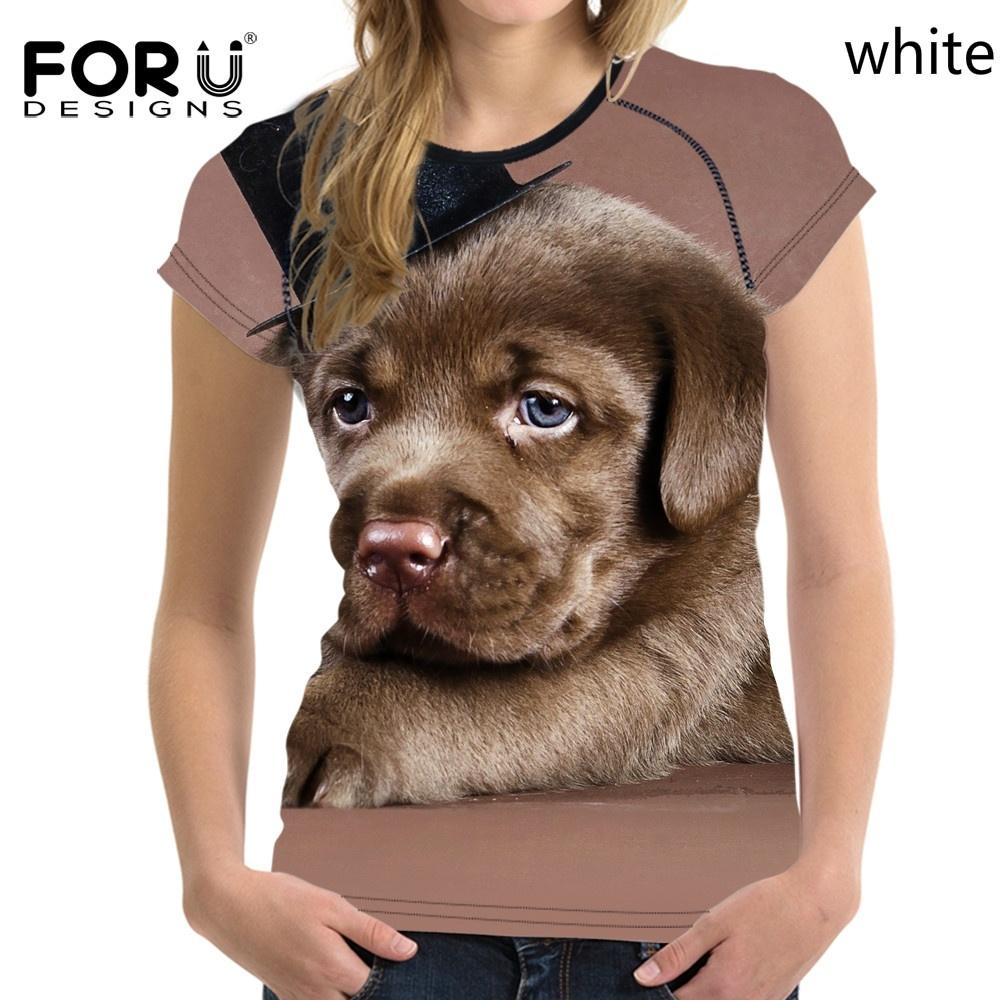 d783683f484c Product details of FORUDESIGNS 3D Funny Dog Printed t Shirt Women Clothes T- shirt Female Summer Tops Teen Short Sleeve Breathable Tee Shirts S-XXL