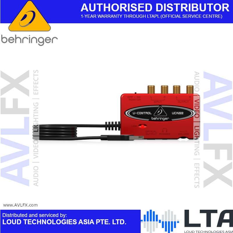 USB 1.1 Digital Audio Interface Behringer U-CONTROL UCA222